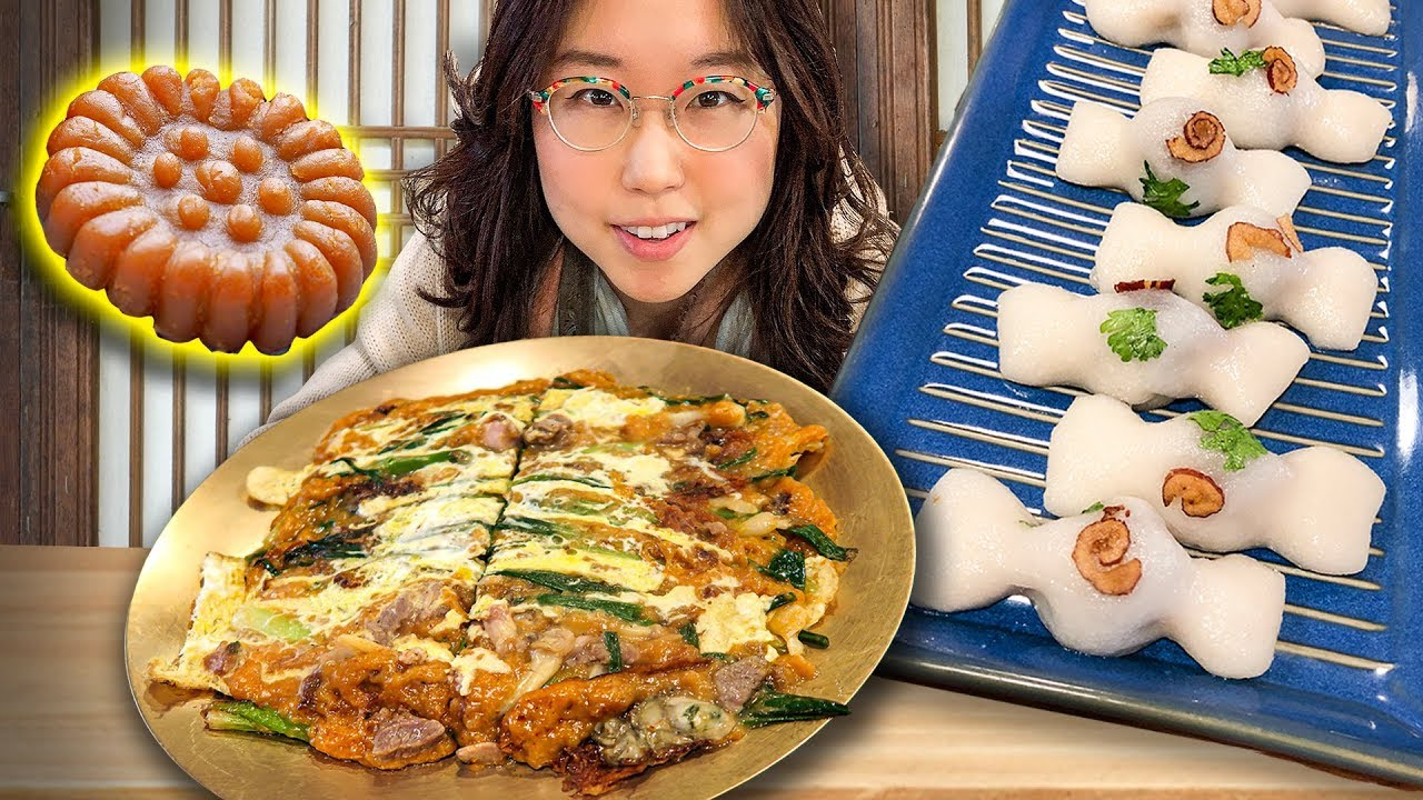 KOREAN SEAFOOD PANCAKES ft Rice Cakes (Busan Day 10)