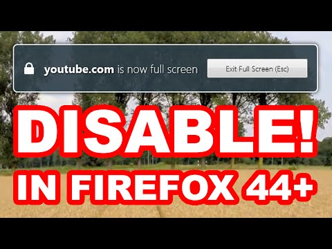 How to disable youtube.com is now full screen notification in Firefox 44+