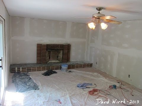Family Room Remodel - Drywall, Insluation, Trim & Paint