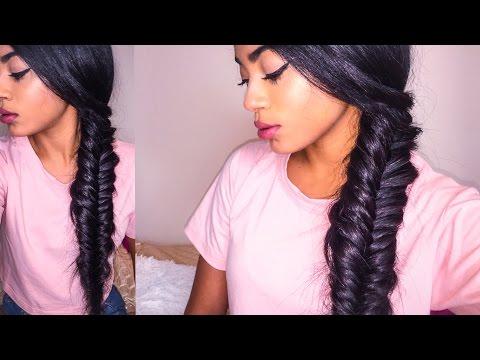 Cute Easy Hairstyle - Chunky Side Fishtail Braid +GIVEAWAY hairluxuryshop   jasmeannnn