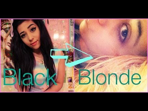 How to: Bleach black hair to blonde