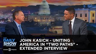 """John Kasich - Uniting America in """"Two Paths"""" - Extended Interview: The Daily Show"""
