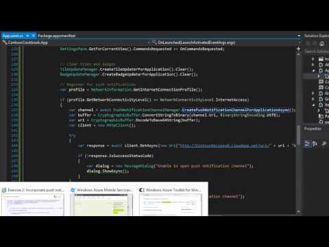 Windows 8 Apps  with C# - Part 29: Incorporating Push Notifications