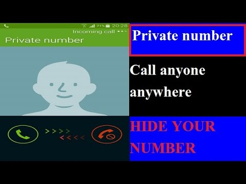 How to make your number private number | App make your number Private | Private number
