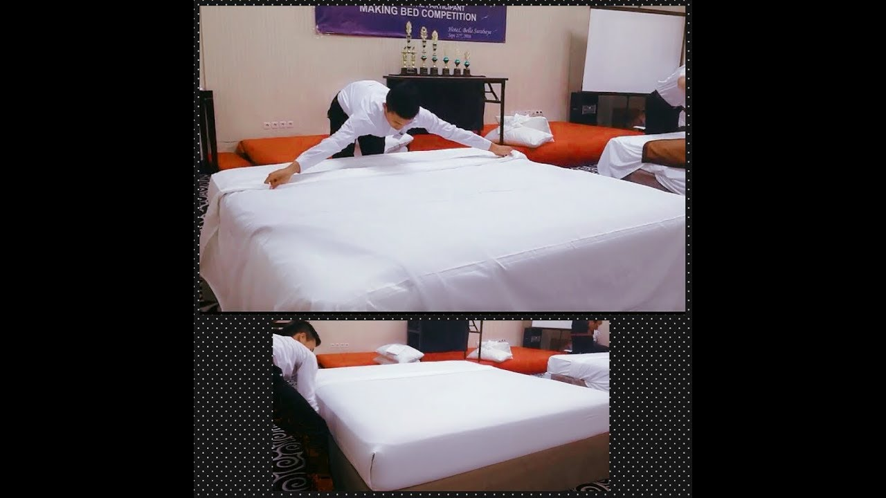 Making Bed Competition 2016 (Terbaik ✌) IHKA JATIM Hotel Bella Surabaya SMKN 01 BATU