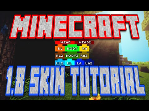 1.8 Minecraft Skin Editing Tutorial!