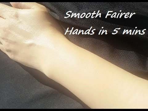 How to Get Smooth Fairer Hands in 5 Minutes