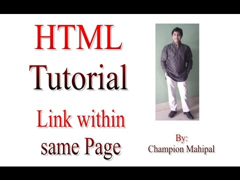 Learn HTML Tutorial 18 link within same html page with example