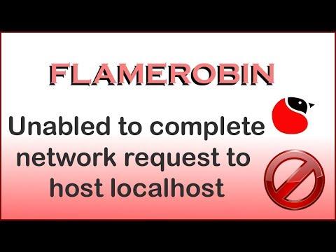 unable complete network request host localhost erro flamerobin