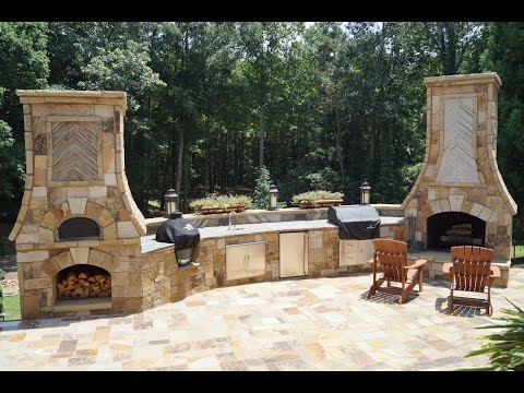 Time Lapse PIZZA OVEN, Outdoor Fireplace, Kitchen Atlanta, GA Part II