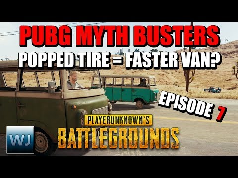 PUBG MYTH BUSTERS #7: Is the van FASTER with a POPPED TIRE? Do arms shield your body? and more