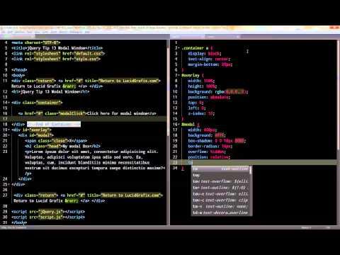 jQuery Tip 13 Modal Window