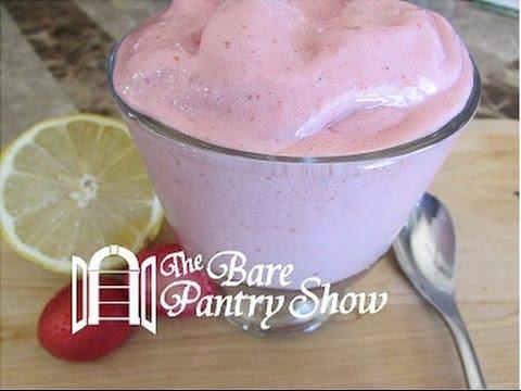 Strawberry Lemon Frozen Yogurt