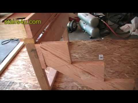 Stringer And Stair Ledger Attachment - Construction Video Tips