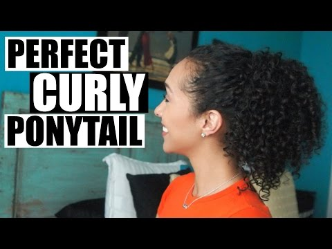 Perfect Frizz Free Curly Ponytail