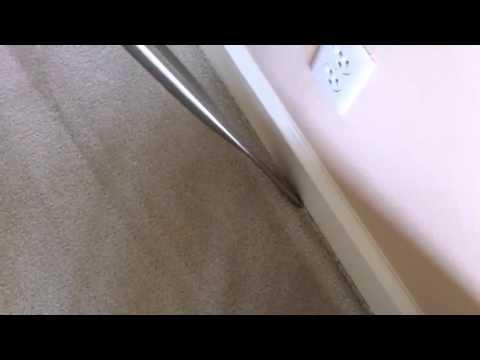 Black lines around carpet edge