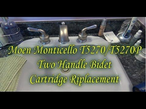Plumbing Repairs: How To Replace Moen T5270/T5270P Monticello Two Handle Bidet Cartridge