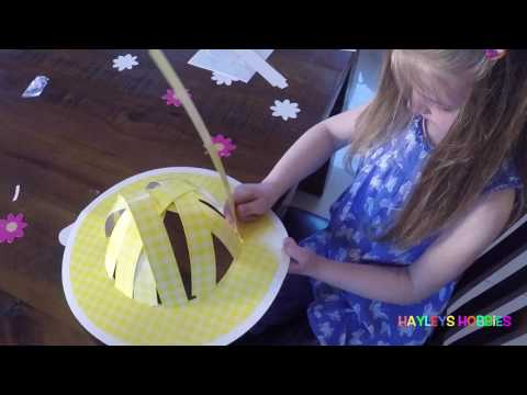 Making an Easter hat (Bonnet)