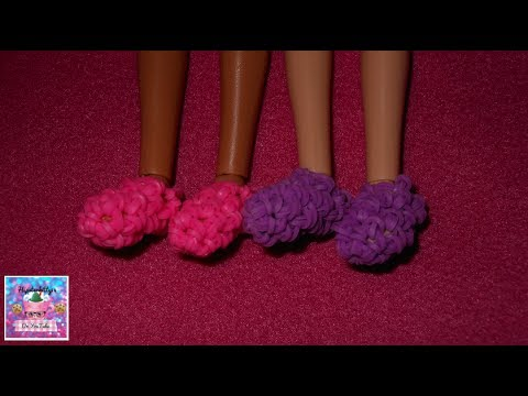 How to make rainbow loom Doll shoes (Hook Only)