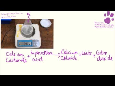 Measuring the rate of a reaction by loss of mass