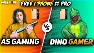 As Gaming Vs Dino Gamer| Free iPhone 11 For Dino Chimkandi Best Clash Squad Battle- Garena Free Fire