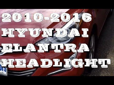 How to replace Headlight bulbs in Hyundai Elantra 2010-2016