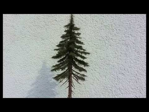 Building realistic model trees : Part 2 (spruce/conifer) - Modellbäume selber bauen