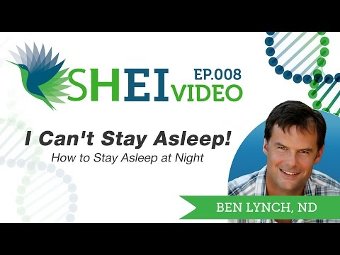 How to Stay Asleep at Night - I Can't Stay Asleep!