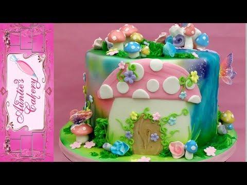 Enchanted Fairy Garden Cake Full Tutorial