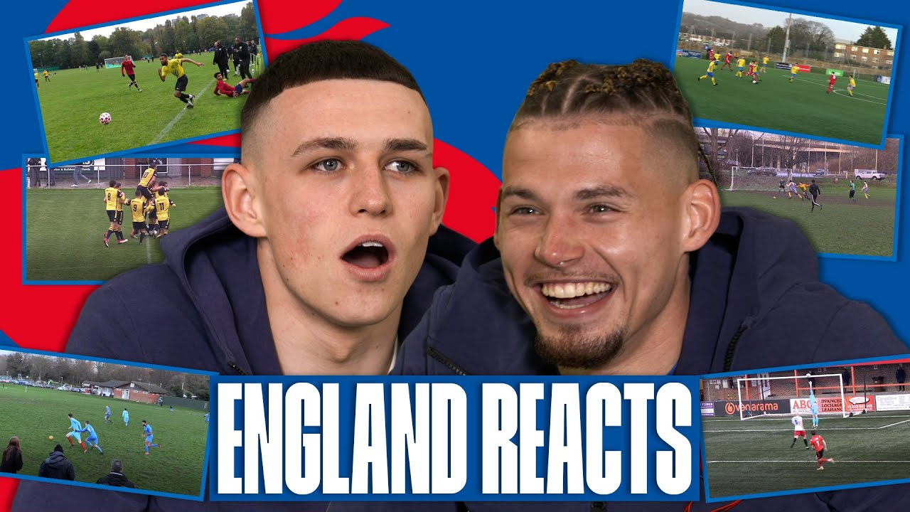 """""""Sent Him for a Hot Dog!"""" 🤣   Foden & Phillips React to Insane Grassroots Goals   England Reacts"""