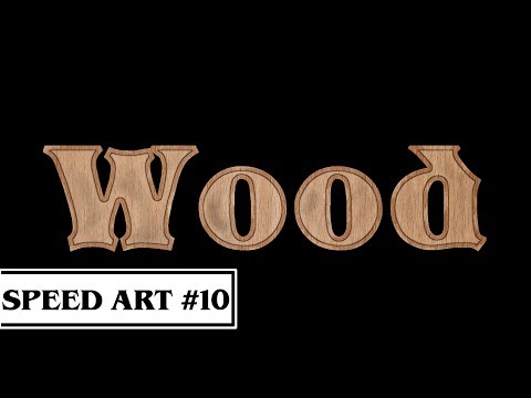Wood Text Effect - Speed Art (GIMP)