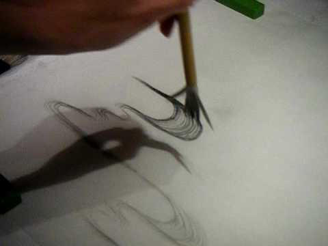 Japanese brush painting: Water, mist and clouds