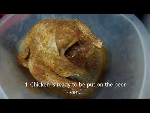 Beer Can CHICKEN on a GAS GRILL