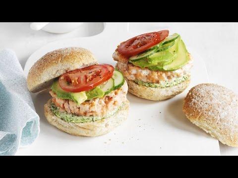 3-Ingredient Easy Salmon Burger Recipe
