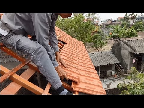 Amazing Construction - Installation Terracotta Roof Tiles On A Fixed Frame