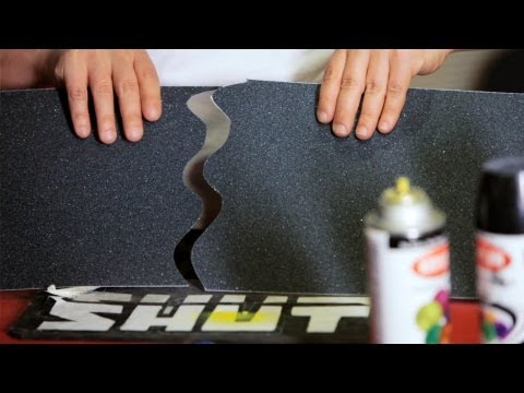 How to Cut & Apply a Grip Tape Design | Custom Skateboard
