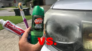 The Truth About Off & Toothpaste Vs Headlights! ( Update On Wd 40)