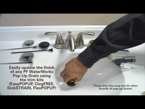 How to Update Finishes of Pop-Up Drains by PF WaterWorks using Trim Kit