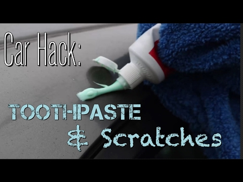Life Hack - Using Toothpaste to Remove Simple Car Scratches