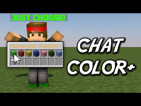 Minecraft | CHAT COLOR+ (Change the chat color instantly!) | Plugin Tutorial