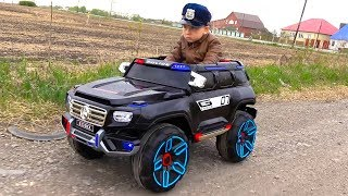 POLICE BABY Pretend Play with Police Cars Unboxing and Playing with TOYS
