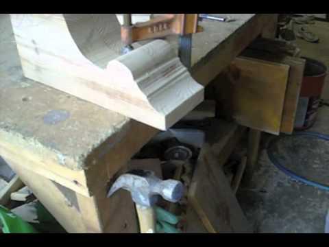 Making decrative beautiful corbels or support brackets.