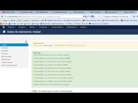 extencion sitemap joomla  para enviar a google webmaster