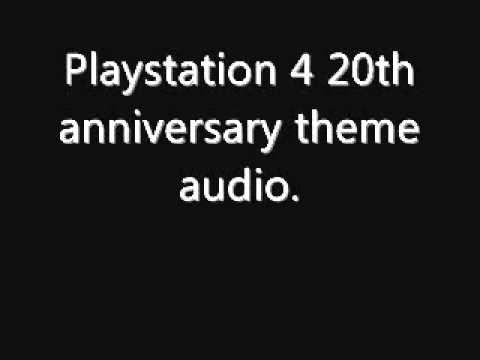 PlayStation 4 20th anniversary theme audio