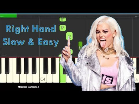 How to Play Meant To Be by Bebe Rexha & Florida Georgia Line on Piano   Right Hand Slow Easy Tutoria