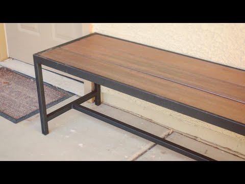 DIY Modern Bench // Woodworking & Metalworking