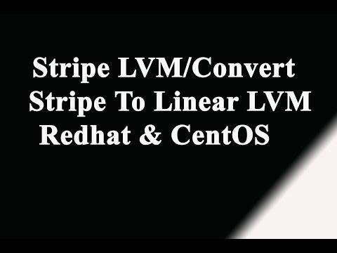 Stripe LVM, Convert Stripe to Linear LVM in Linux- Redhat | Suse | CentOS