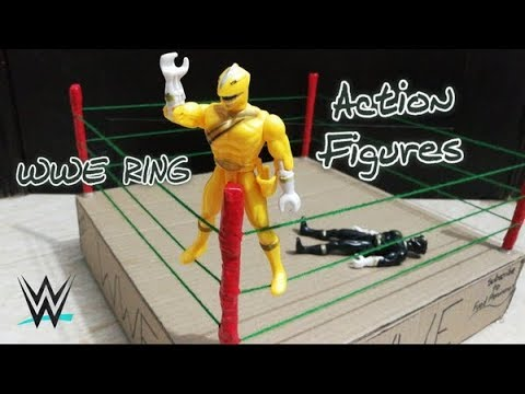How to make a wwe ring| DIY cardboard wwe ring for action figures TUTORIAL!