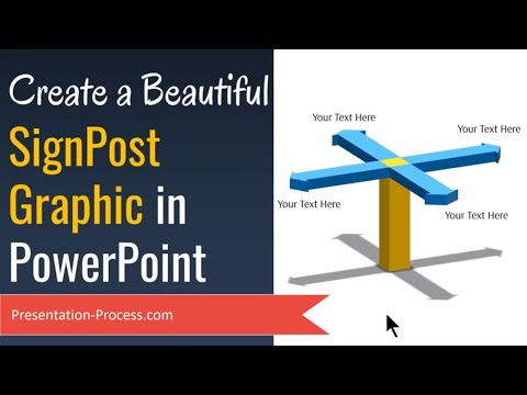 Create a Beautiful PowerPoint Graphic of SignPost (SmartArt Trick)