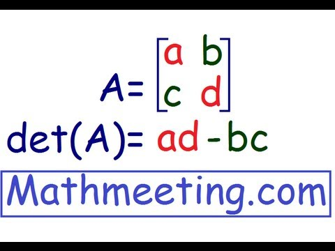 Determinant of 2x2 matrix